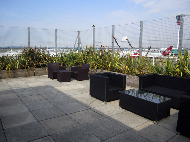 Virgin Atlantic, flagship VIP lounge, outdoor observation deck.