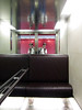 Elevator , complete with leather bound seat, to Virgin Atlantic VIP lounge.