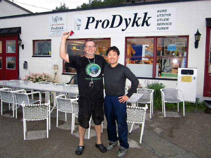 Our base camp, ProDykk Dive Shop, Nessoden, Norway.<br /> Co-owned by Marlou (Belgian), who speaks 5 languages fluently!