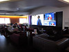 Virgin Atlantic, flagship VIP lounge, with wide screen TV.