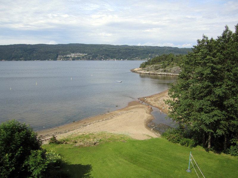 Main beach, Drøbak, Norway, behind my hotel.