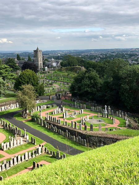 View of Church of Holy Rude from Stirling Castle<br /> Scotland