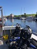 Scuba gear aboard the Silver Sky. Eyemouth Harbor, Scotland.