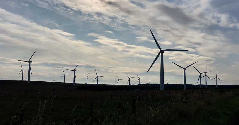 Wind turbines produce approximately 60% of Scotland's electrical needs. When winds are stiff, 100%.