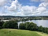 Westerly view from Linlithgow Palace, Linlithgow, Scotland.