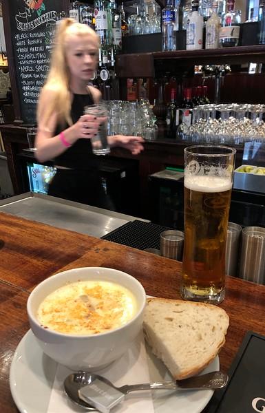 Soup in Sloan's Pub<br /> Glasgow, Scotland.