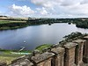 View of loch from Linlithgow Palace, Linlithgow, Scotland.