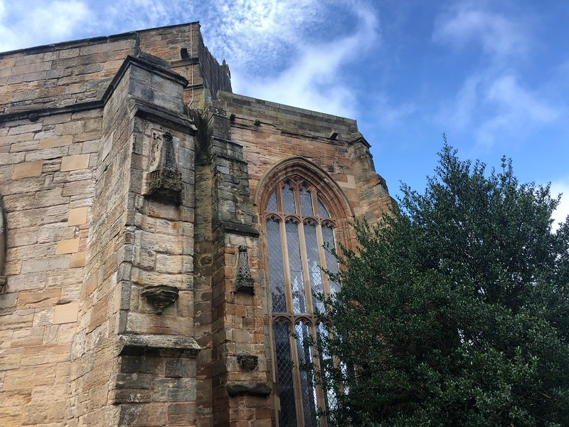 Missing statues which were destroyed by Protestants, after taking over the former Catholic church.<br /> St. Michael's Church<br /> Linlinthgow, Scotland