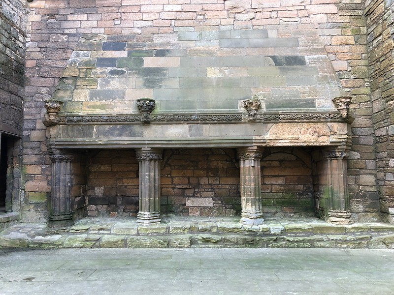 Great Hall fireplace<br /> Linlithgow Palace, Linlithgow, Scotland.