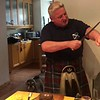 """Video: Daniel Sweeney, award winning professional bagpiper, recites """"Address to a Haggis"""" by Robert Burns and cuts the haggis with a ceremonial knife.<br /> <a href=""""http://www.robertburns.org.uk/Assets/Poems_Songs/toahaggis.htm"""">http://www.robertburns.org.uk/Assets/Poems_Songs/toahaggis.htm</a>"""