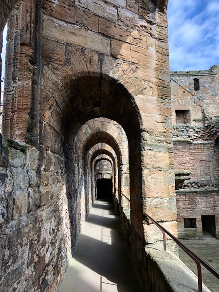Veranda above the Great Hall<br /> Linlithgow Palace, Linlithgow, Scotland.
