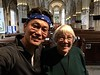 With Winnie Scot, in St. Michael's Church.<br /> Linlithgow, Scotland
