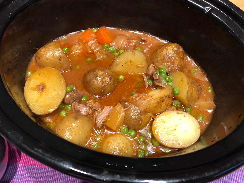 Lamb stew, another delicious delicacy by Lesley.