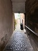 Vennel (small alley) from the main street to Loch Linlithgow.<br /> Pend = larger alley<br /> Wynd = small street