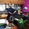 """Video: Daniel Sweeney, award winning professional bagpiper, plays a rousing tune before the haggis cutting ceremony.<br />  <a href=""""http://www.piperdan.co.uk"""">http://www.piperdan.co.uk</a>"""