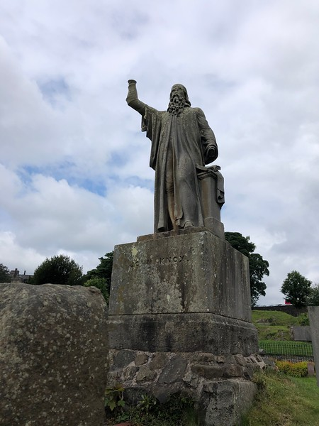 John Knox statue<br /> Old Town Cemetery<br /> Stirling, Scotland