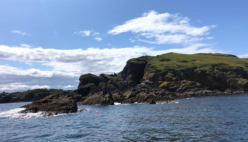 Scenery along the eastern coast, Scotland.