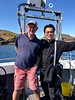 With Captain Jim Easingwood, former fisherman turned scuba boat captain. Near Eyemouth, Scotland.