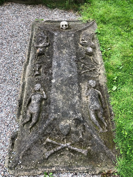 Creative grave stone<br /> Old Town Cemetery<br /> Stirling, Scotland