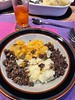 """Haggis, a savoury delicious """"pudding"""" of Scotland, containing sheep's pluck (liver, heart, lungs, etc.), mixed with oatmeal, minced onion, suet, spices, served with neeps & tatties (turnips & potatoes)."""