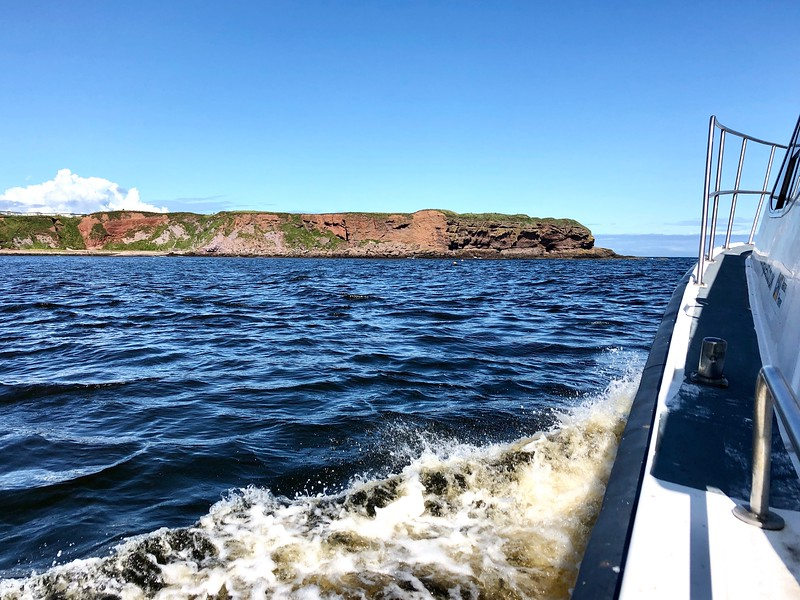 Heading out for dives #8 & #9.<br /> Eyemouth Harbor, Scotland.