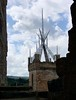 View of St. Michael's Church<br /> Linlithgow Palace, Linlithgow, Scotland.