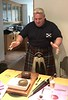 Danny Sweeney addressing the haggis<br /> Linlinthgow, Scotland