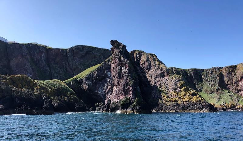 Scenery along the eastern coast.<br /> Eyemouth Harbor, Scotland.