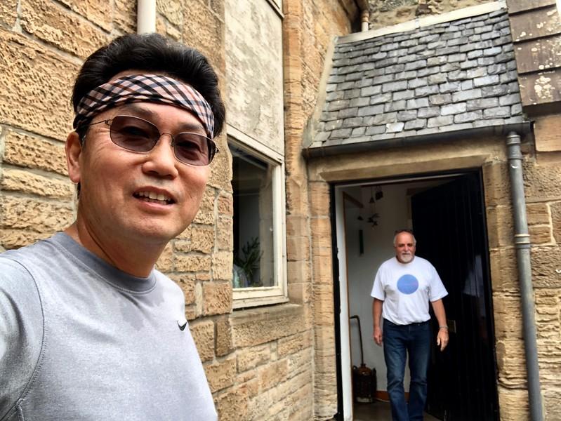 Jim's front door. House is centuries old.