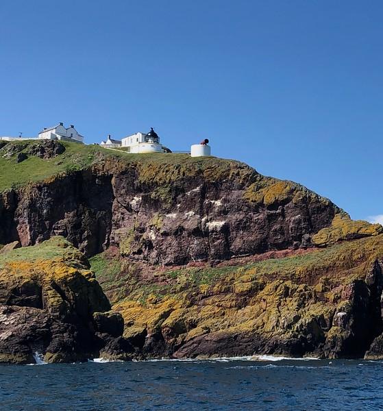 Scenery along the eastern coast.<br /> St Abbs Head Lighthouse, Berwickshire, Scotland.
