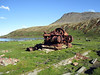 Abandoned whaling station equipment.<br /> Ocean Harbor, South Georgia Island