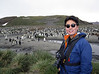 Kevin with tuxedoed friends.<br /> Salisbury Plain, South Georgia Island.<br /> Photo by Jeff B.