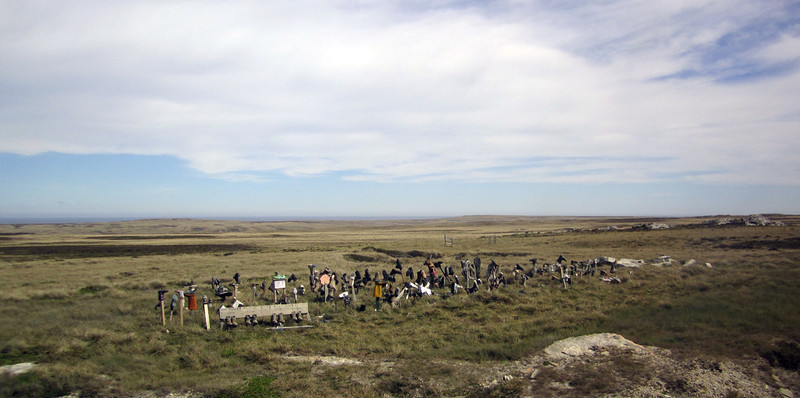 Shoe fence<br /> East Falkland Island.