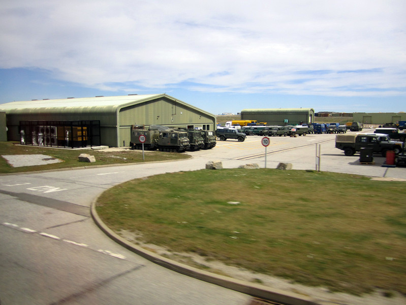 Mt. Pleasant, British army garrison.<br /> East Falkland Island.
