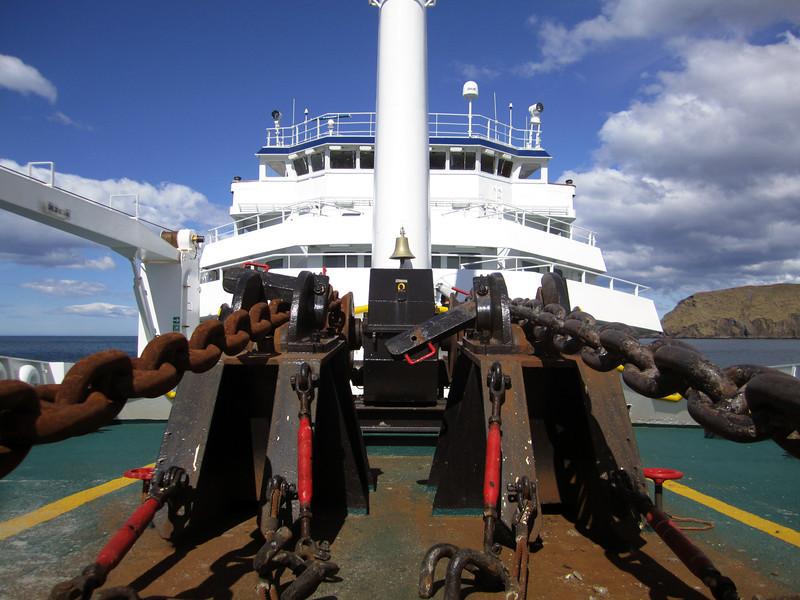Plancius anchor chains.<br /> South Georgia Island.