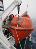 Plancius lifeboat.<br /> East Falkland Island.