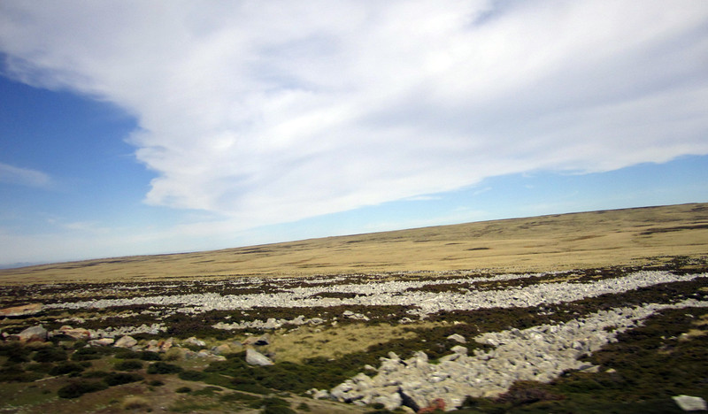 "Landscape, with ""Rock Rivers"".<br /> East Falkland Island."