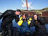 Kelvin, Jeff & TIm, speak no evil, see no evil hear no evil!<br /> Ocean Harbor, South Georgia Island
