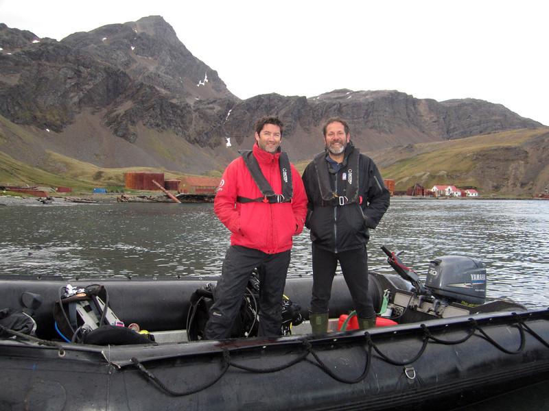 Kelvin & Jeff<br /> Grytviken, South Georgia Island