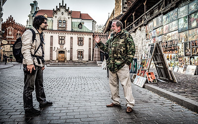 The two artists discourse A Photowalk with Wandzel Wojciech Krakow Poland
