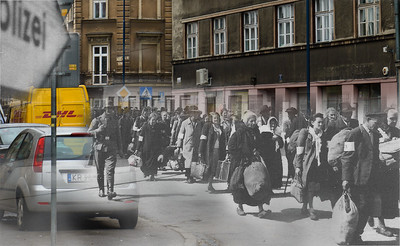 As I walked the streets of Krakow I walked with The Ghosts of History The Ghetto Krakow Poland Now & Then
