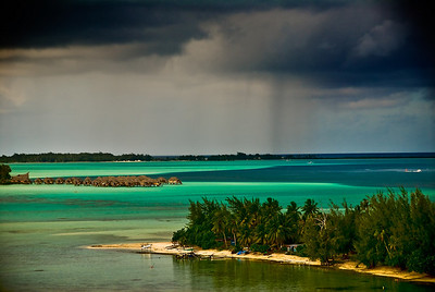 Storm approaching Bora Bora