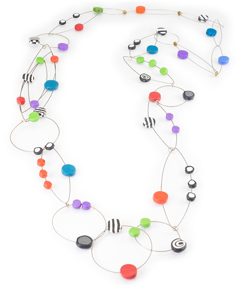 #A6 Dots Multi Necklace. $420. Polymer and stainless steel. Call Smith Galleries at 1.800.272.3870 to order.
