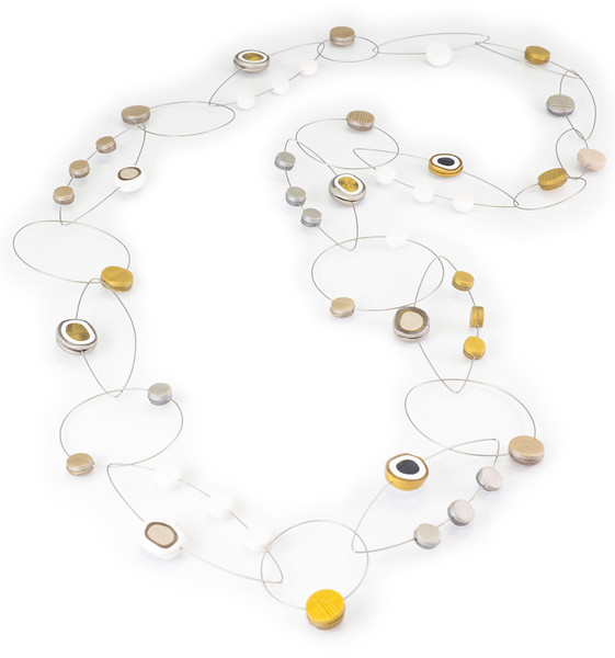 #A7 Dots Neutral Necklace. $420. Polymer and stainless steel. Call Smith Galleries at 1.800.272.3870 to order.