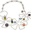 #B2B Open Flower Dance Necklace (Reversable). $485. Polymer and stainless steel. Call Smith Galleries at 1.800.272.3870 to order.