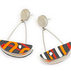 B10 Rocker Orange Red Earrings. $165. Polymer and stainless steel with sterling silver posts. Call Smith Galleries at 1.800.272.3870 to order.