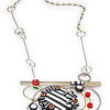 B9B Blossom Necklace Pendant (Reversable). Polymer and stainless steel. Call Smith Galleries at 1.800.272.3870 to order.