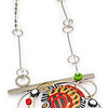 B9 Blossom Necklace Pendant (Reversable). $410. Polymer and stainless steel. Call Smith Galleries at 1.800.272.3870 to order.