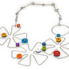 #B2 Open Flower Dance Necklace (Reversable). $485. Polymer and stainless steel. Call Smith Galleries at 1.800.272.3870 to order.