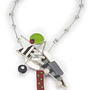 #A11 Strike a Pose Pendant Necklace. $400. Polymer and stainless steel. Call Smith Galleries at 1.800.272.3870 to order.